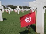 Tunisian and American flags were placed at the graves of 2,481 soldiers.