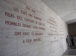 Memorials in French, English, and Arabic.