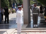 Vice Admiral Pandolfe salutes the tomb of the unknown soldier.